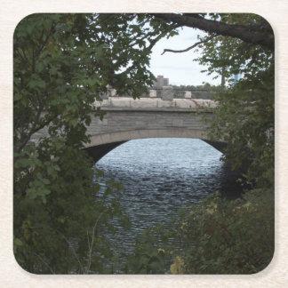 Brücke zu Niagara-Untersetzer Rechteckiger Pappuntersetzer
