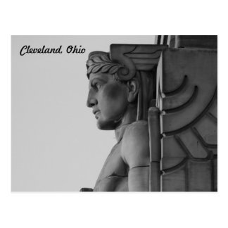 Brücken-Wächter Clevelands OH- (B u. W) Postkarte