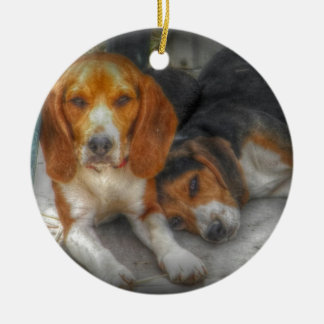 Bruder-Beagles Keramik Ornament