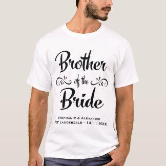Bruder des Braut-lustigen Proben-Abendessens T-Shirt