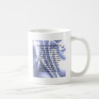 Bruder-Gedicht - blaue Seide Kaffeetasse