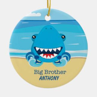 Bruder-Haifisch auf Strand-Verzierung Keramik Ornament