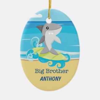 Bruder-Haifisch-surfende Verzierung Keramik Ornament