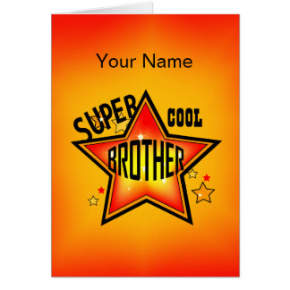 Bruder-super cooler Stern-Gruß Karte
