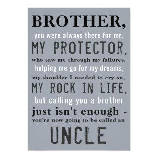 Bruder und Onkel Pregnancy Announcement Karte