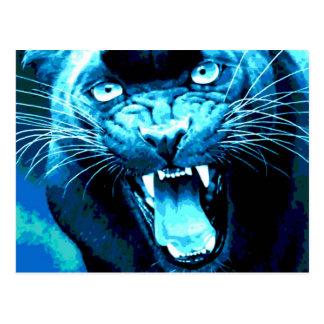 Brüllen Jaguar Postkarte