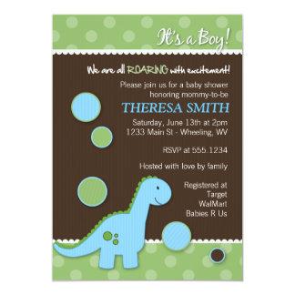 Brüllendinosaurier-Babyparty-Einladungen Einladung