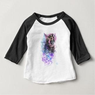 Brüllenkatzen-Wasser-Farbe Baby T-shirt