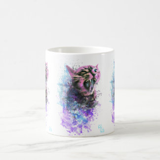 Brüllenkatzen-Wasser-Farbe Kaffeetasse