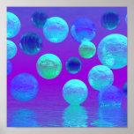 Brume violette - lumière abstraite cyan et de pour posters
