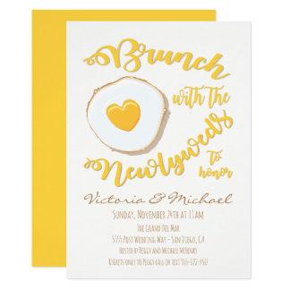Brunch mit der Jungvermählten Posten-Hochzeit Karte