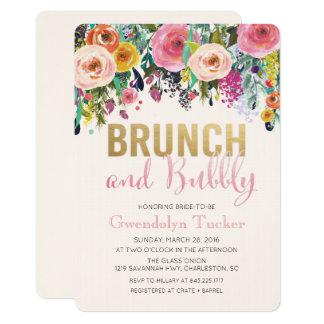 Brunch und sprudelnde Brautparty-Einladung Karte
