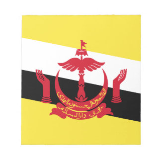 Brunei-Flagge Memo Notizblock