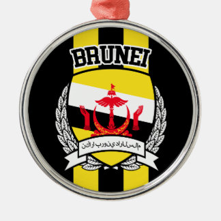 Brunei Rundes Silberfarbenes Ornament