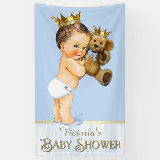 Brünette Bärn-Baby-Dusche Prinz-Teddy Banner