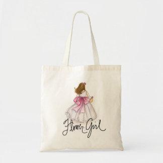 Brünette Blumen-Mädchen TASCHE
