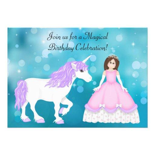 Brünette Prinzessin-und Ankündigungskarten