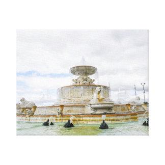 Brunnen auf Detroits Schönheits-Insel in Michigan Galerie Falt Leinwand