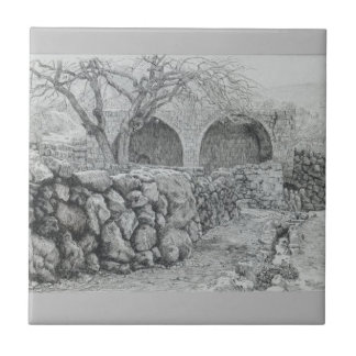 Brunnen der Jungfrau bei Ain Karim durch James Keramikfliese