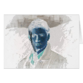 Brunnen gekleideter junger Mann Karte