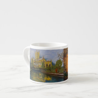Brunnen-Kathedrale - zwei Malereien Espressotasse