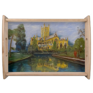 Brunnen-Kathedralen-Frühstück Tablett