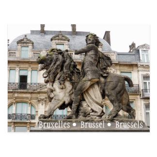 Brüssel-Statue Postkarte
