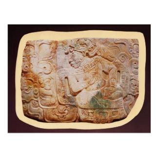 Brust des Königs und des Höflings von Tikal Postkarte