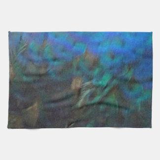 Brust-Federn eines Pfaus Handtuch