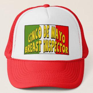 Brust-Inspektor-T - Shirts und Geschenke Cinco Des Truckerkappe