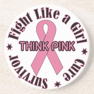 Brustkrebs-Bewusstsein Getränkeuntersetzer