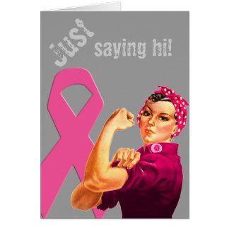 Brustkrebs-Bewusstsein Rosie der Nieteneinschläger Karte