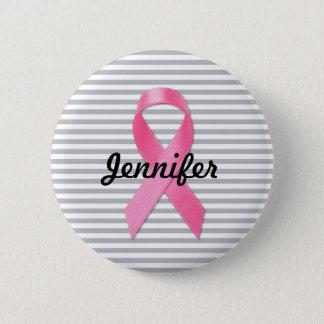 Brustkrebs-Bewusstseins-Band personalisiert Runder Button 5,7 Cm