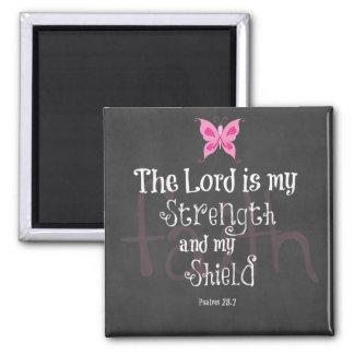 Brustkrebs-Bewusstseins-Bibel-Vers Quadratischer Magnet