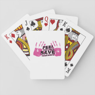 Brustkrebs-Bewusstseins-Gefühl für Klumpen Spielkarten