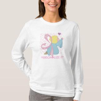Brustkrebs-Engel kundengerecht T-Shirt