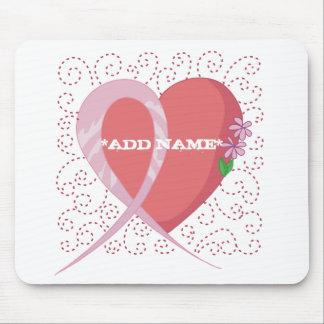 Brustkrebs-Herz kundengerechtes Mousepad