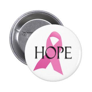 Brustkrebs-Hoffnungsknopf Runder Button 5,7 Cm