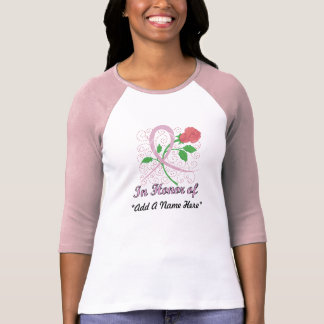 Brustkrebs-kundengerechter 3/4 HülseRaglan T-Shirt