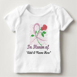 Brustkrebs-kundengerechter Säuglings-lange Hülse Baby T-Shirt