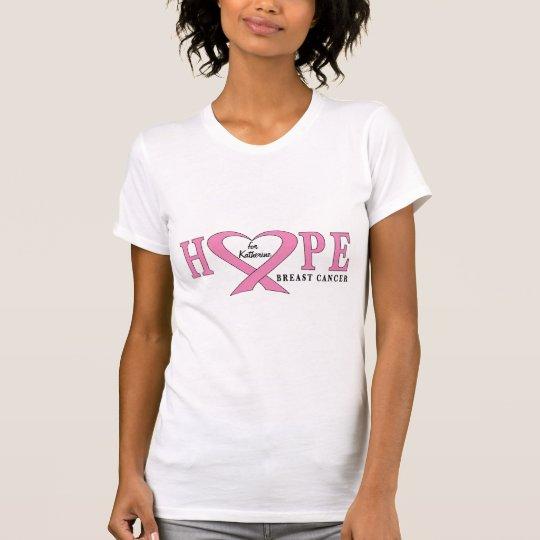 Brustkrebs-Namen-kundengerechtes Bewusstseins-Band T-Shirt
