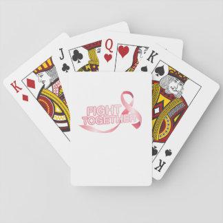 Brustkrebs Schleifen-Bewusstseins-Überlebender Spielkarten