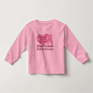 Brustkrebs-Überlebend-Kleinkind-lange Hülse Kleinkind T-shirt