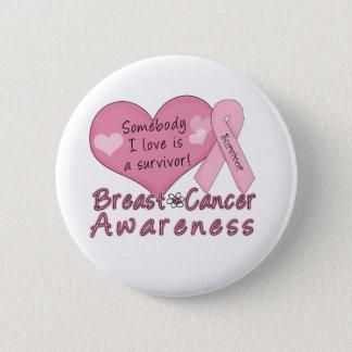 Brustkrebs-Überlebend-Knopf