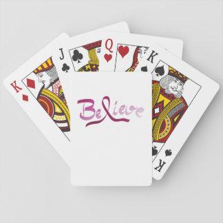 Brustkrebs-Überlebend-Rosa-Band glauben Geschenken Spielkarten