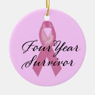 Brustkrebs-Überlebend-Verzierung vierjährlich Keramik Ornament