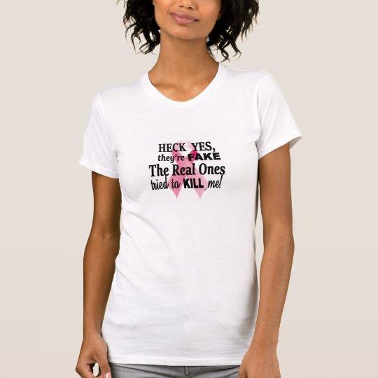 Brustkrebs-Überlebender, rosa Band, feines Jersey T-Shirt