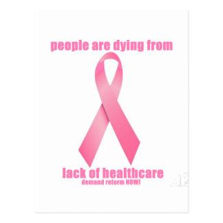 Brustkrebs und Gesundheitswesen Postkarte