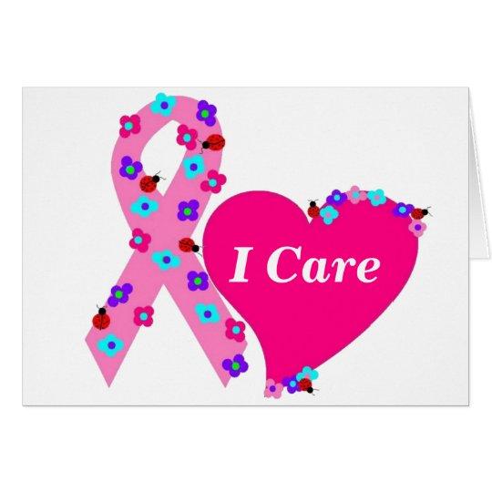 Brustkrebs-Unterstützung Grußkarte