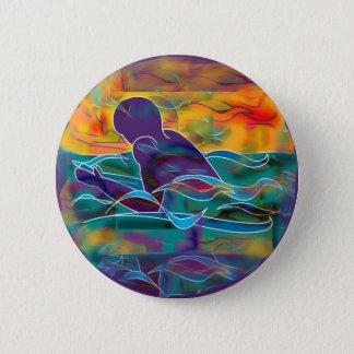 Brustschwimmen Runder Button 5,7 Cm